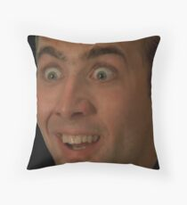 Nicolas Cage Face Throw Pillow III Throw Pillow