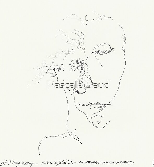 Night & Nap Drawings 91 - eyes closed - 31th July 2013 by Pascale Baud