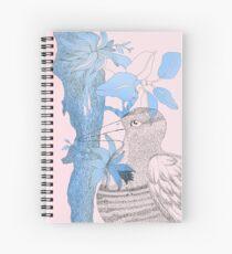Bird in blue and pink Spiral Notebook