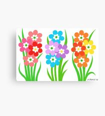 FLOWERY THREESOME Canvas Print