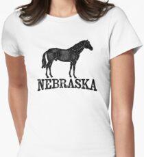 Nebraska T-shirt - Horse Women's Fitted T-Shirt