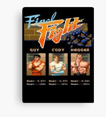 Final Fight Canvas Print