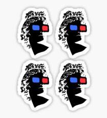 j4vaexe silhouette - mini stickers x4 Sticker