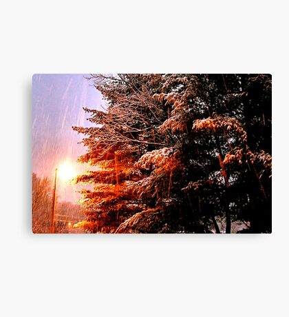 """""""A Snowy Evening in Knoxville"""" (a series, no.7) Canvas Print"""