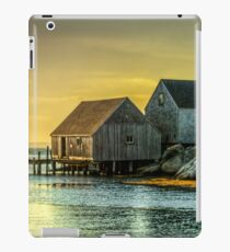 Fishing Shacks at Sunset iPad Case/Skin