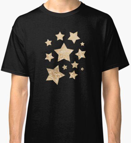 Beautiful champagne gold glitter sparkles Classic T-Shirt