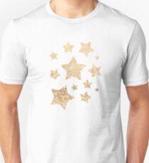 Beautiful champagne gold glitter sparkles Unisex T-Shirt
