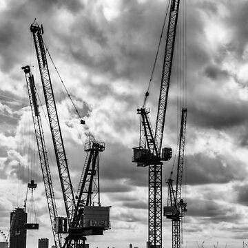 Tower Cranes on City of London Skyline by GrahamPrentice