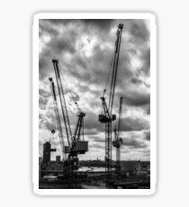 Turmkrane auf der City of London Skyline Sticker