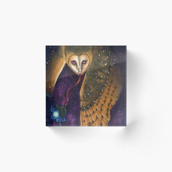 Spirit Owl Acrylic Block