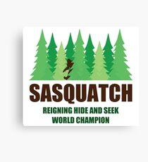 Bigfoot Sasquatch Hide and Seek World Champion Canvas Print