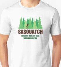 Bigfoot Sasquatch Hide and Seek World Champion T-Shirt