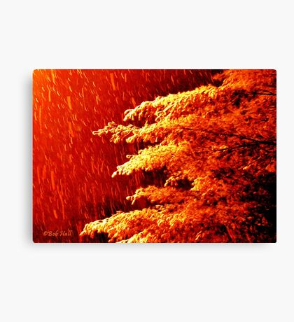"""""""A Snowy Evening in Knoxville"""" (a series, no.8) Canvas Print"""