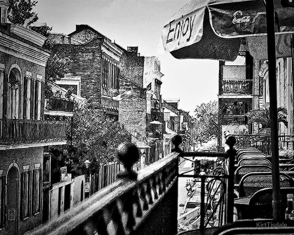 French Quarter Balcony by KirtTisdale