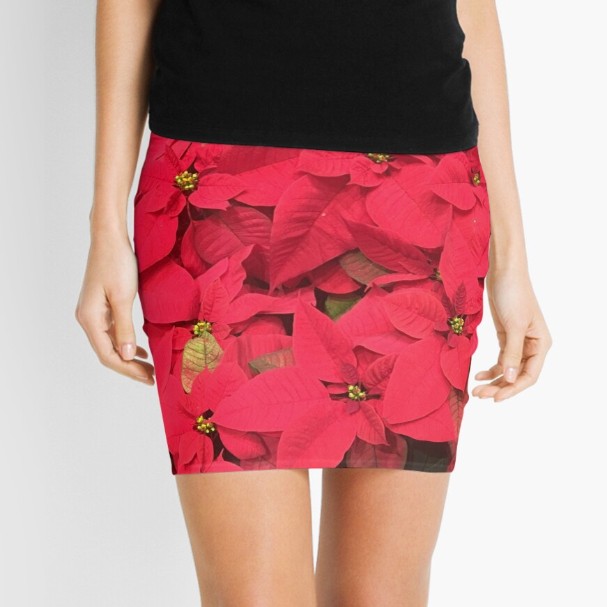 Christmas Red Mini Skirt