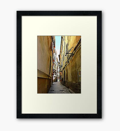 An Alley In Palma..................................Majorca Framed Print