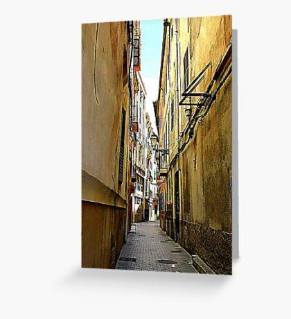 An Alley In Palma..................................Majorca Greeting Card