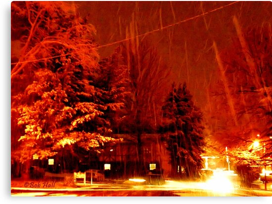 """""""A Snowy Evening in Knoxville"""" (a series, no.9) by © Bob Hall"""
