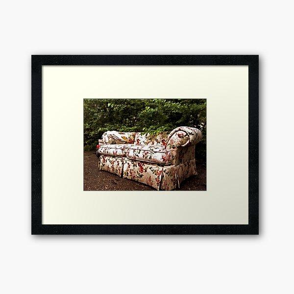 Yard Couch! Framed Art Print