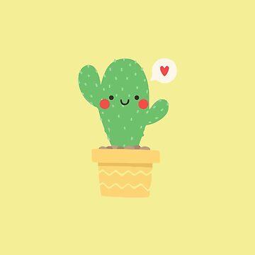 Cute Cartoon Cactus by MBroadbridgee