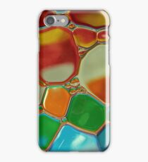 multi-colour oil bubbles on water iPhone Case/Skin