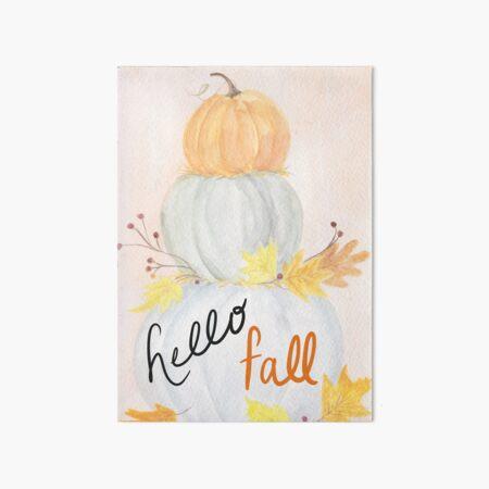 Hello Fall Art Board Print