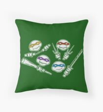Ninja Doodles Throw Pillow