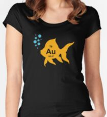 Periodic Table Elemental Gold Fish Women's Fitted Scoop T-Shirt