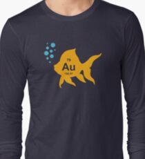 Periodic Table Elemental Gold Fish Long Sleeve T-Shirt