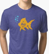 Periodic Table Elemental Gold Fish Tri-blend T-Shirt
