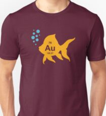 Periodic Table Elemental Gold Fish T-Shirt