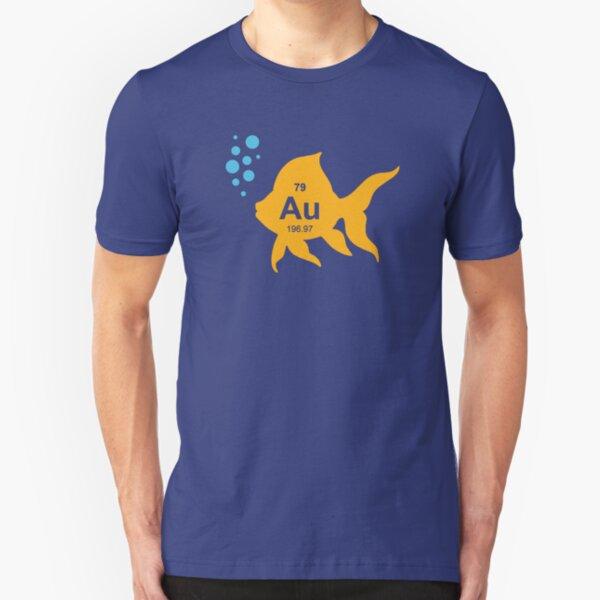 Periodic Table Elemental Gold Fish Slim Fit T-Shirt