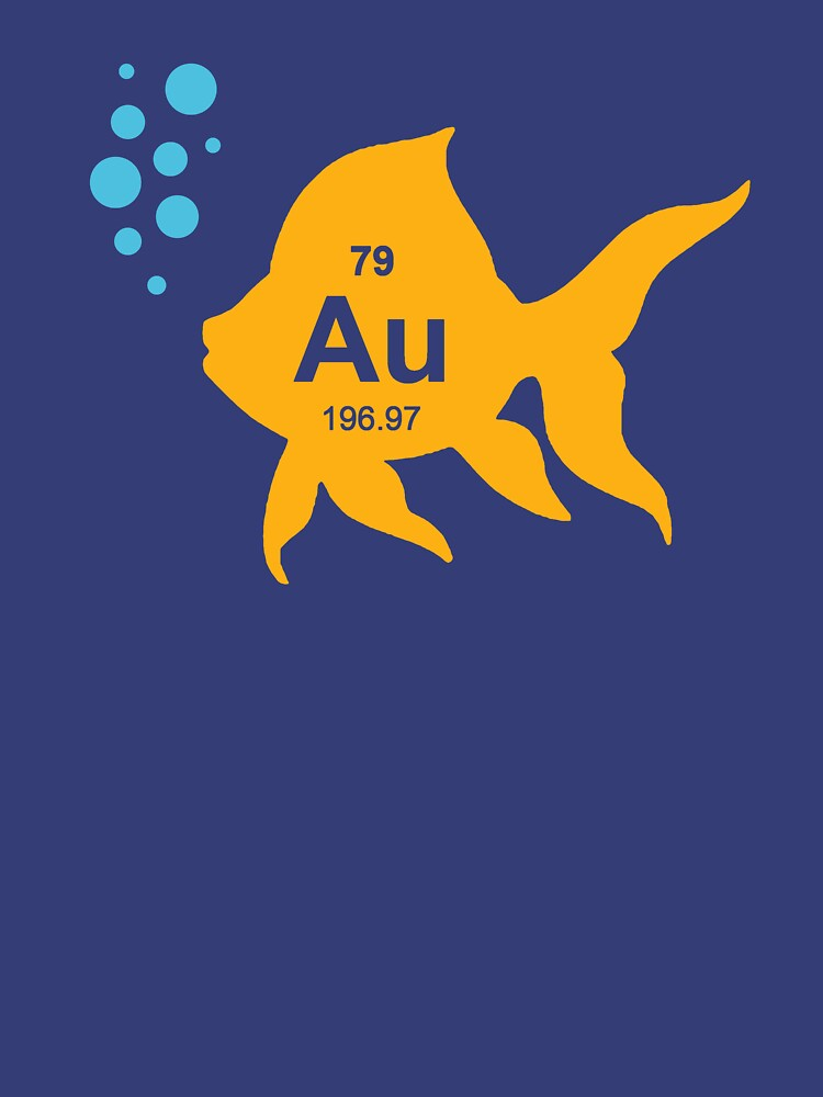 Periodic Table Elemental Gold Fish by TheShirtYurt