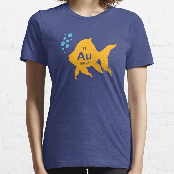 Periodic Table Elemental Gold Fish Essential T-Shirt