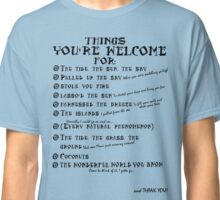 Maui Lyrics - You're Welcome, Reference. Classic T-Shirt