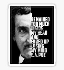 E.A. Poe Insane Sticker