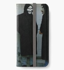 Teufel und Gott iPhone Flip-Case/Hülle/Skin