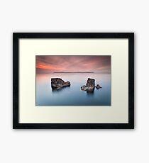 Pans Rock  Northern Ireland  Co Antrim  Ballycastle Northern Ireland Framed Print