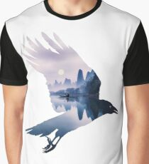 Crow Mystic River  Graphic T-Shirt