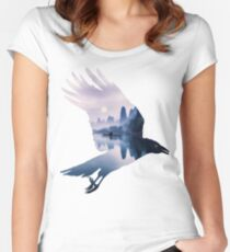 Crow Mystic River  Women's Fitted Scoop T-Shirt