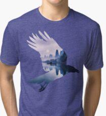 Crow Mystic River  Tri-blend T-Shirt