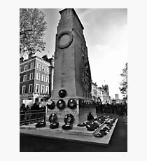 Remembrance Day at the Cenotaph Photographic Print