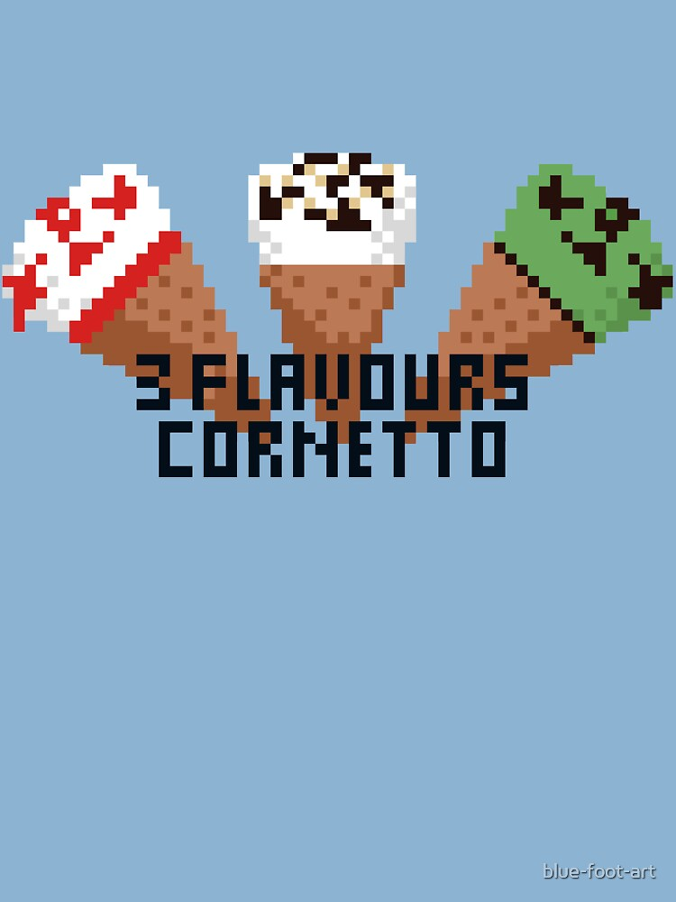 3 Flavours Cornetto Pixel Art Baby One Piece