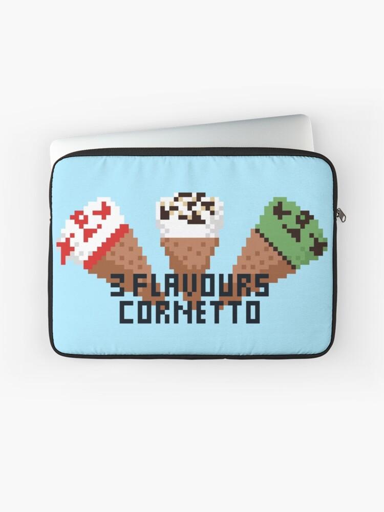 3 Flavours Cornetto Pixel Art Laptop Sleeve