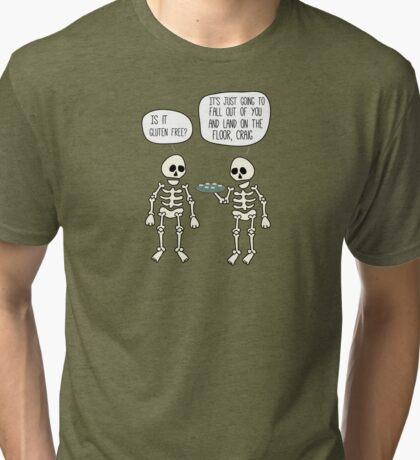 Is it gluten free? Tri-blend T-Shirt