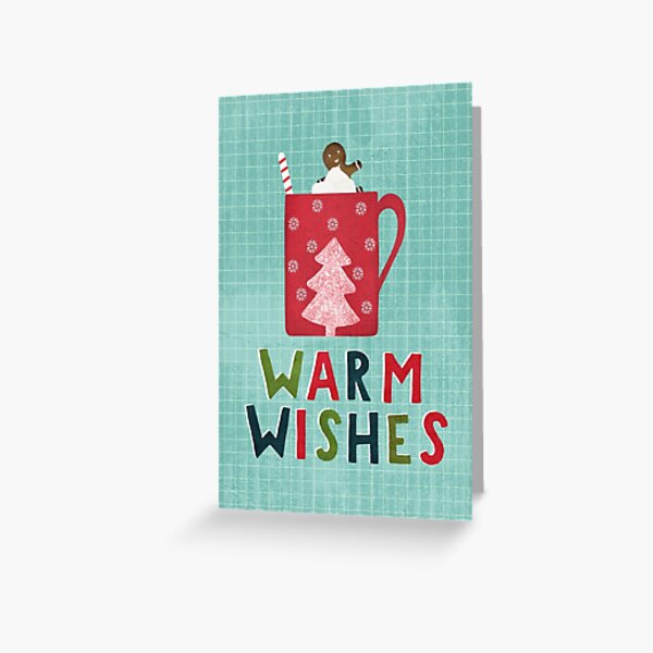 Warm Christmas Wishes Greeting Card