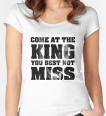 Omar Little - The Wire - Come at the king Women's Fitted Scoop T-Shirt