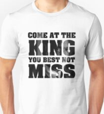 Omar Little - The Wire - Come at the king Slim Fit T-Shirt