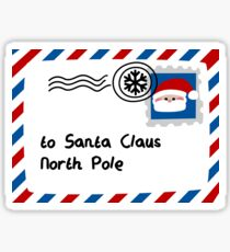 Letter To Santa Claus Sticker
