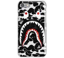 shark black bape camo iPhone Case/Skin